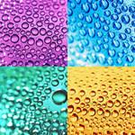droplets - colors . ..