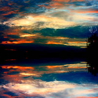 the sunset reflection . ..