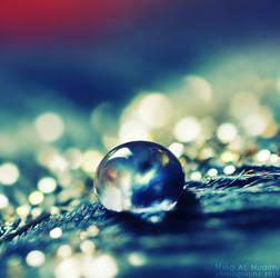 Blue glitter drop. ..