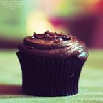 Chocolate cupcake. ..