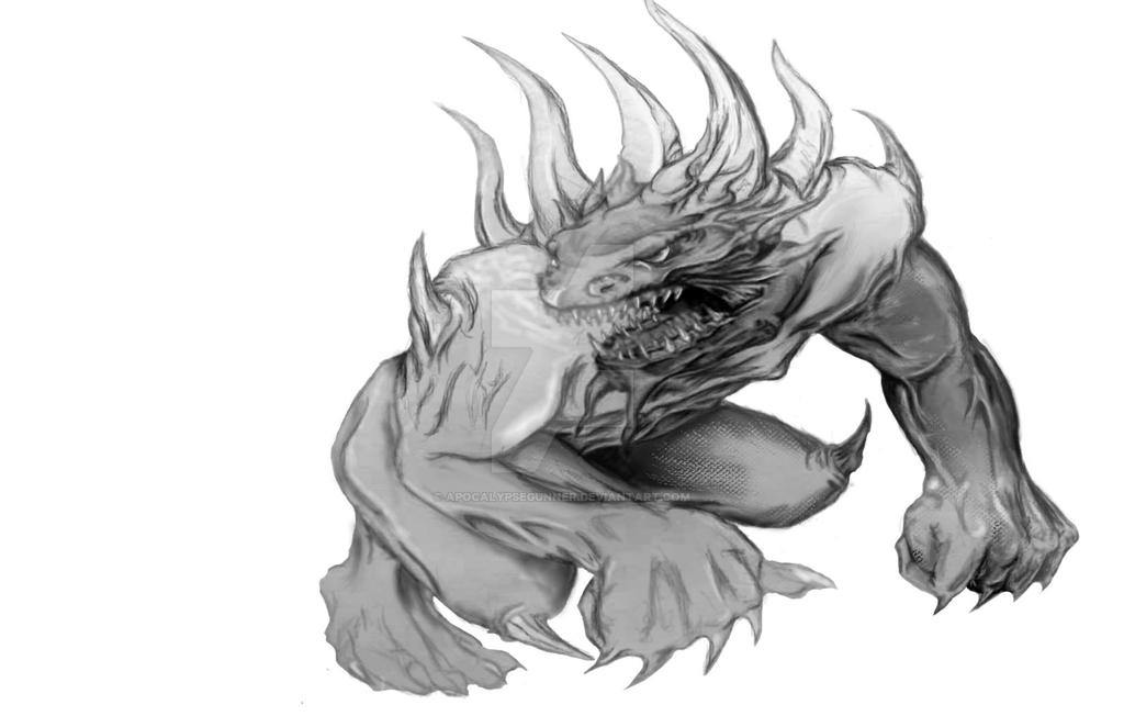ogre creature concept by apocalypsegunner on deviantart