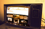 Instagram In old television