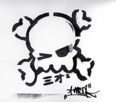 stencil skull by me0k