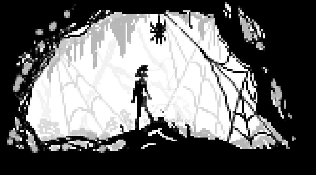 Pixel Spider by pinkiris