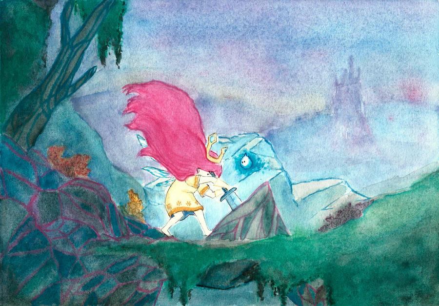 Aurora / Child of light by azulxD