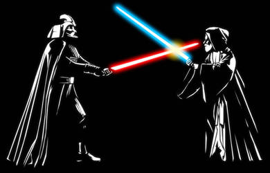 Darth Vader vs Obi Wan by AsparagusTrevor