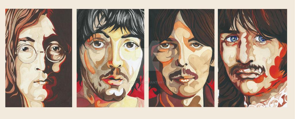 Beatles Portraits (For Sale) by Ezekiel-J