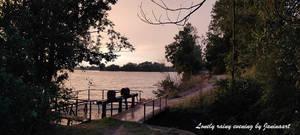 Lonely rainy evening