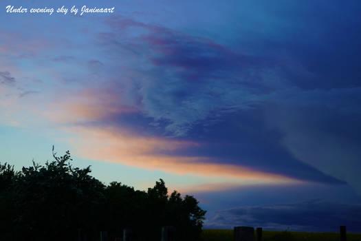 Under evening sky