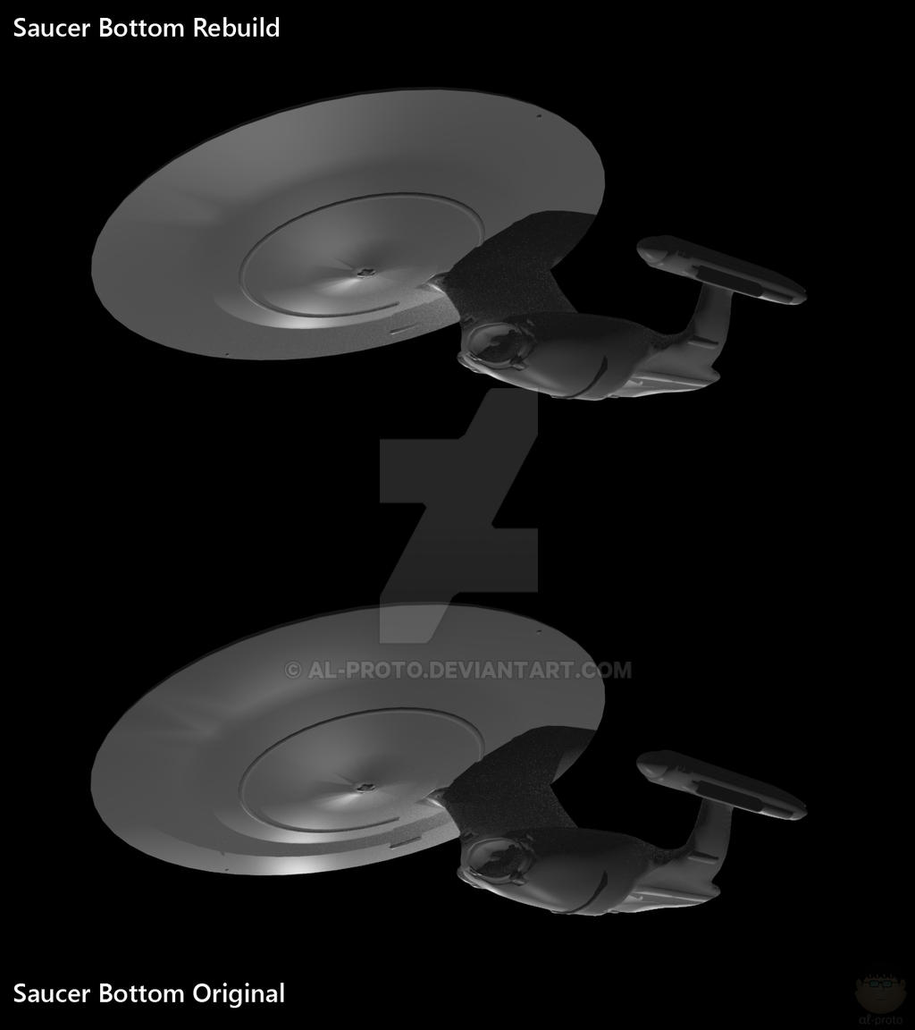 Ambassador Saucer Bottom Rebuild #003 By AL-Proto On