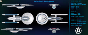 Excelsior Class Starship Orthographic