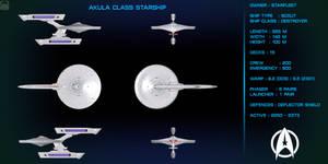Akula Class Refit Starship Orthographic