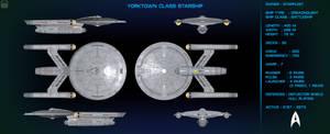Yorktown Class Starship Orthographic
