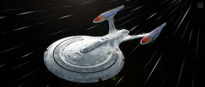 Enterprise-F At Warp