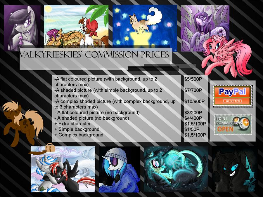 Commission Price List by ValkyrieSkies