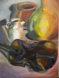 oil value/color study by lizkennedy