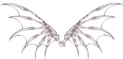 Mech Wings tattoo design