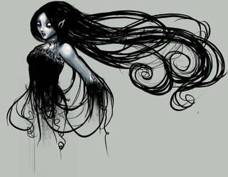 Night caught in her tresses by starweaver