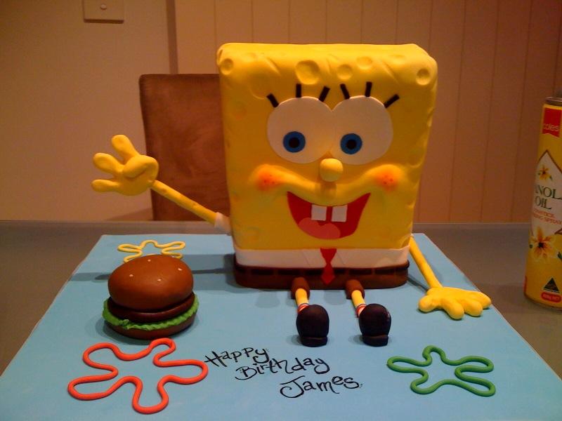sponge bob square pants cake by mudpiecakes on DeviantArt