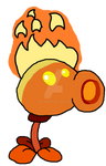Fire Peashooter Drawing