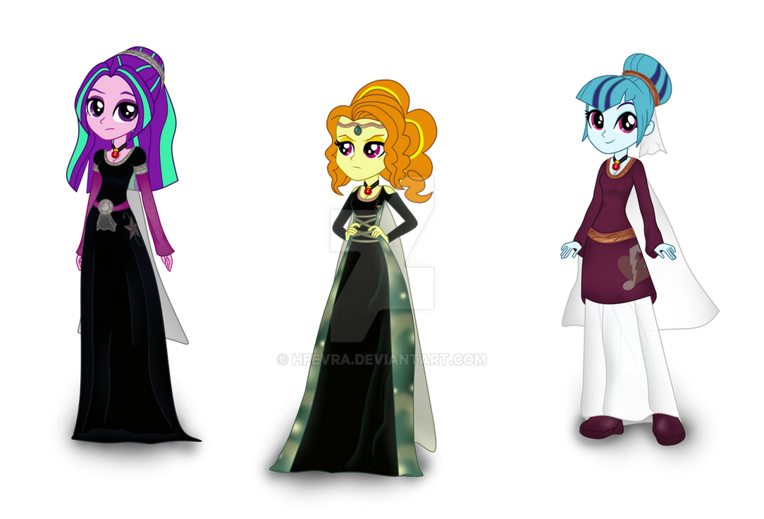 MLP Equestria Girls - The Dazzlings in Middle Ages by HfEvra