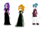 MLP Equestria Girls - The Dazzlings in Middle Ages