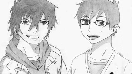 Ao no Exorcist - The brothers by Winry-Kawaii
