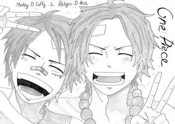 One Piece - Monkey D. Luffy x Portgas D. Ace by Winry-Kawaii