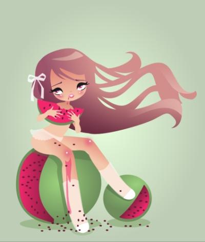 Kawaii Love Melon by Arwassa
