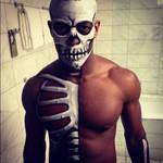 Half Skeleton Body Paint