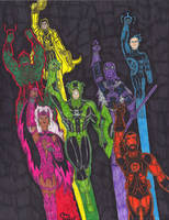 Marvel Lantern Corps by Hyperkid37