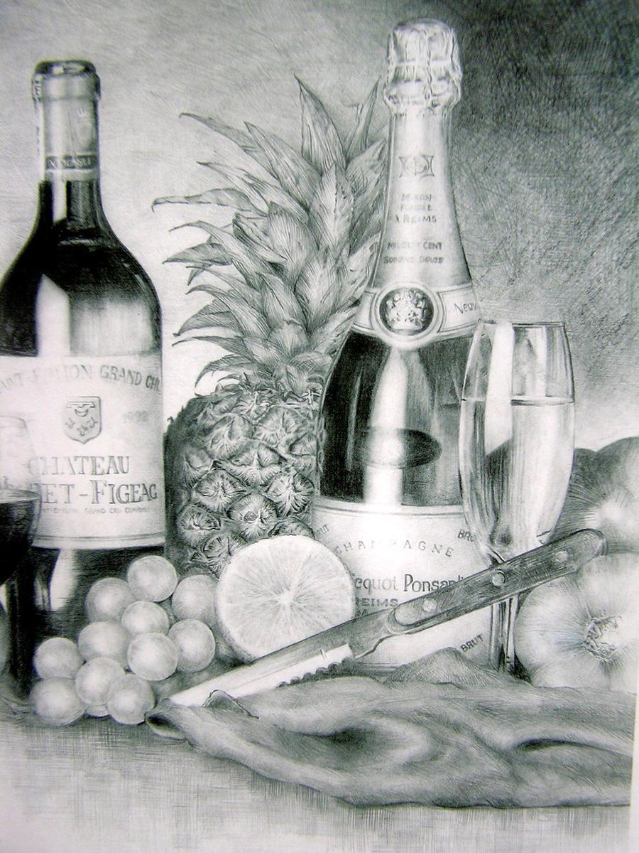 Still Life Drawing By Johnteoh