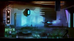 Sci-fi City Scape by CGMaxtor