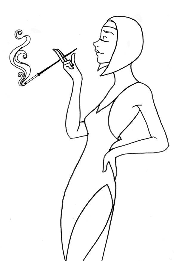 Femme:lineart by Peipp