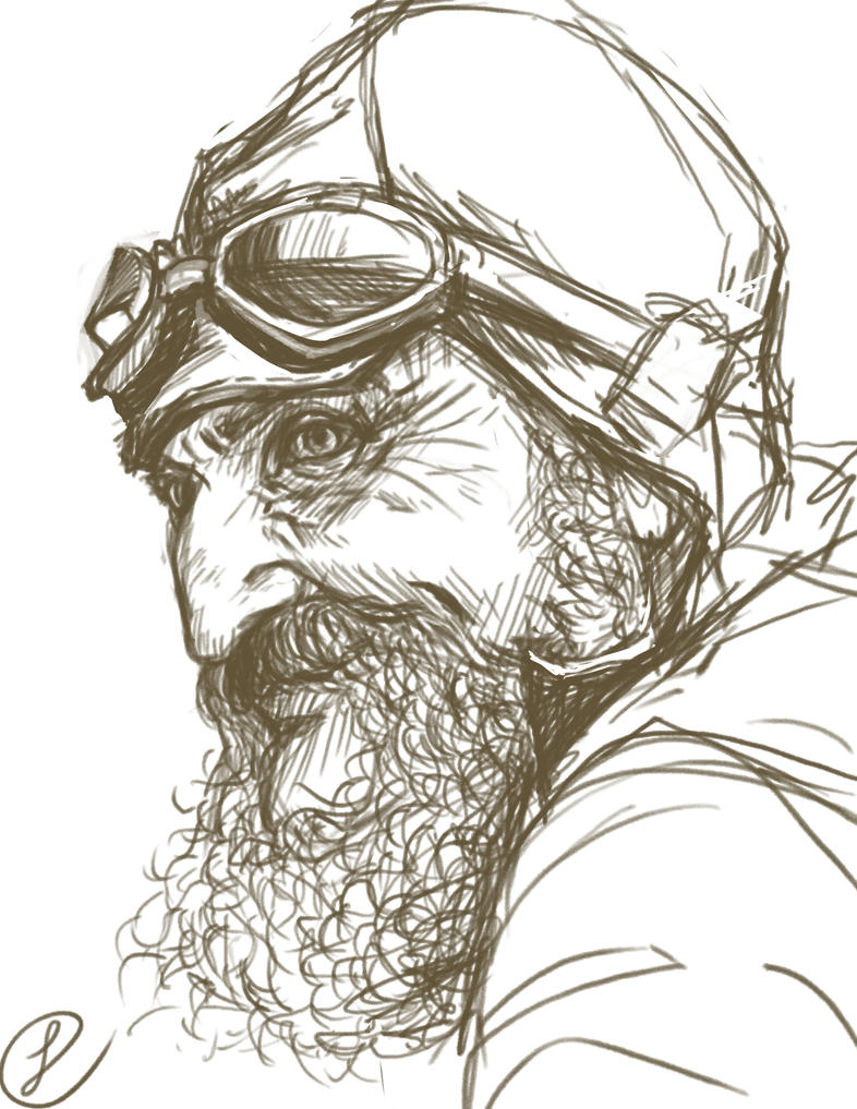 Old man study by Peipp