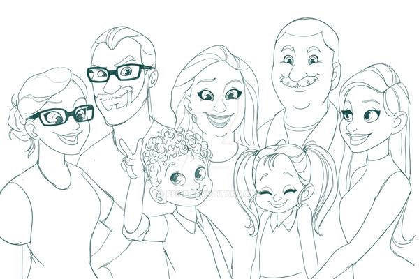 family sketch by Peipp