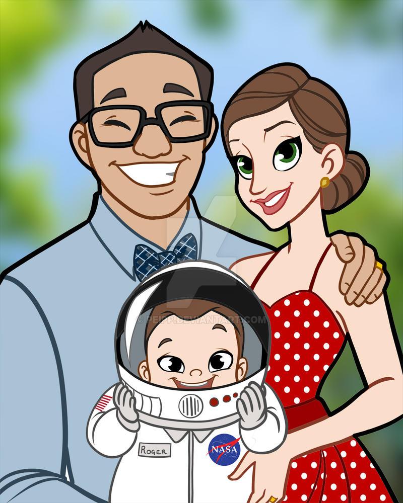Family portrait by Peipp