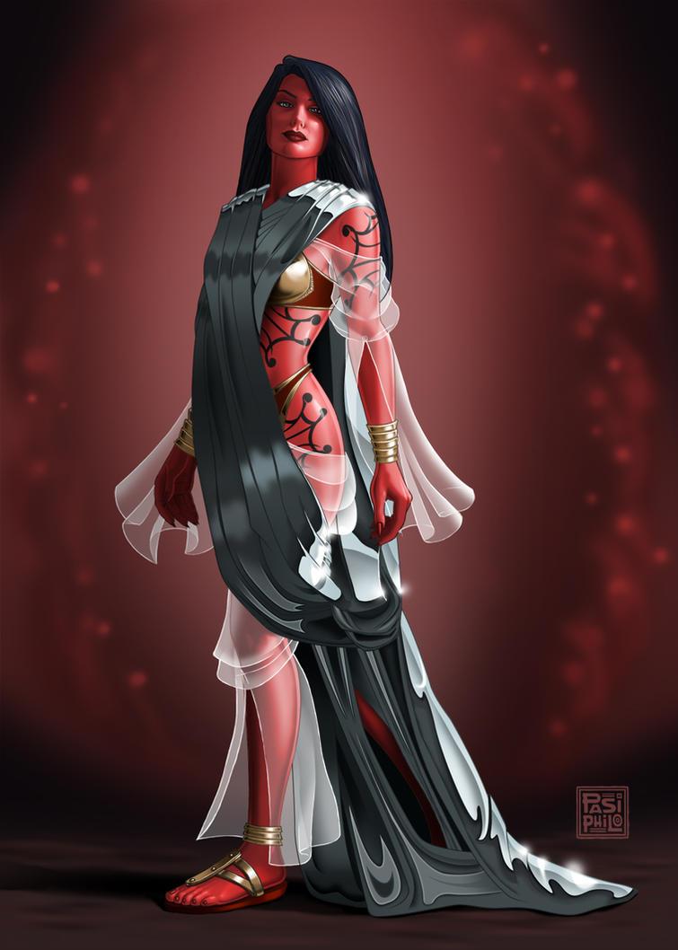 Lady Morgana LeFey by Pasiphilo