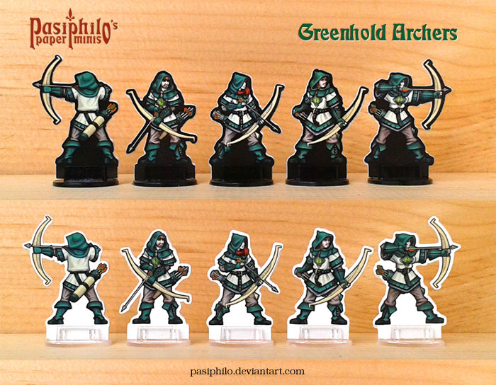 Greenhold Archers 28mm Paper Miniatures by Pasiphilo on DeviantArt