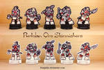 Redclan Orc Skirmishers 28mm Paper Miniatures