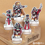 Red Clan Orc Leadership 28mm Paper Miniatures