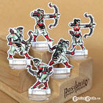 Red Clan Orc Hunters 28mm Paper Miniatures
