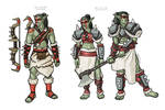 Red Clan Orc Concept Drawings
