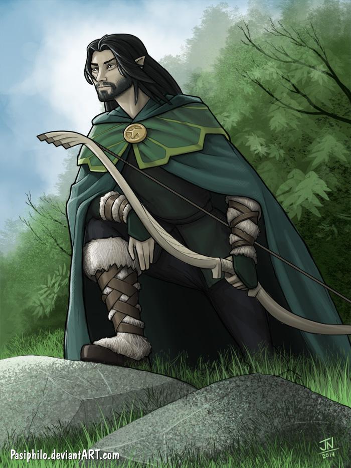 Elven Ranger Portrait Amyr  half-elf ranger byElven Ranger Portrait