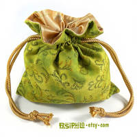 Faery Motes Printed Cotton Satin Lined Dice Bag