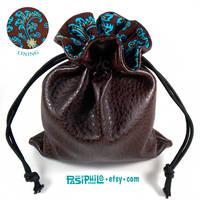 Bluefyre Mage Faux Leather Cotton Lined Dice Bag