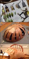 Leaf Man Helmet Creation Process