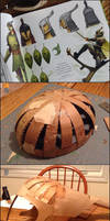 Leaf Man Helmet Creation Process by Pasiphilo