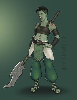 Kaida San, Half-Orc Barbarian-Druid