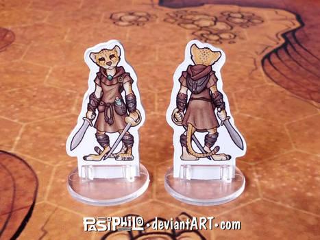 Female Tabaxi Rogue Custom Miniature (Commission)